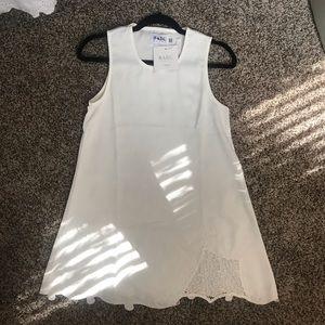 Sabo Skirt white mini dress